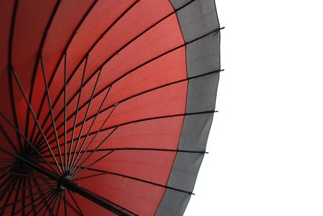 Japan, Umbrella, Traditional, Pattern, Red, Beautiful