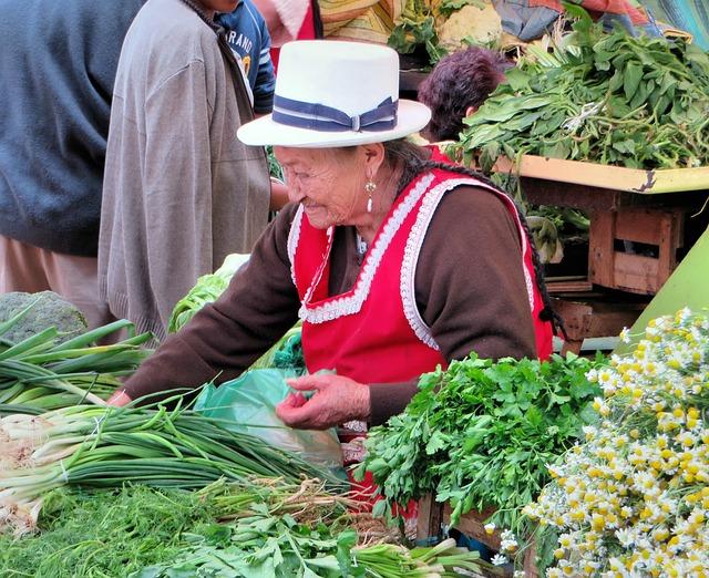 Cuenca, Ecuador, Market, Peasant, Traditional Costume