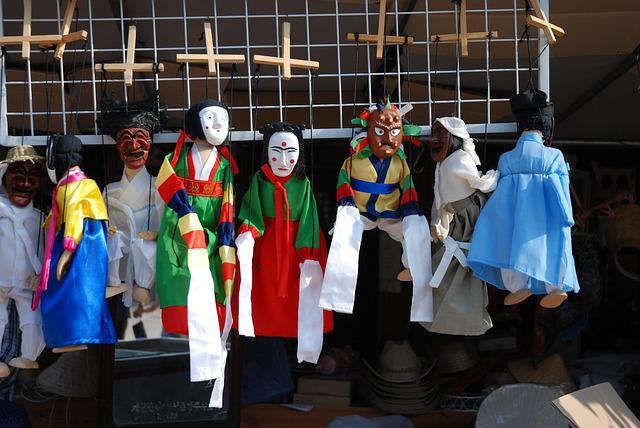 Hanbok, Traditional, Doll, Hahoe Village, Kokeshi