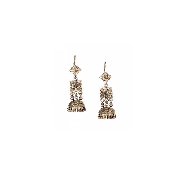 Earrings, Jewellery, Silver, Traditional, Fashion