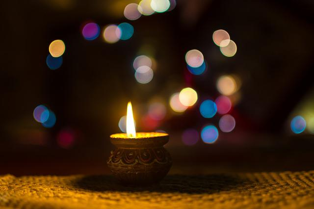Diwali, Diya, Lamp, India, Clay, Traditional, Bokeh
