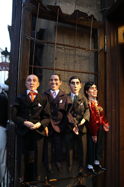 Puppets, Old, Handmade, Traditional, Retro