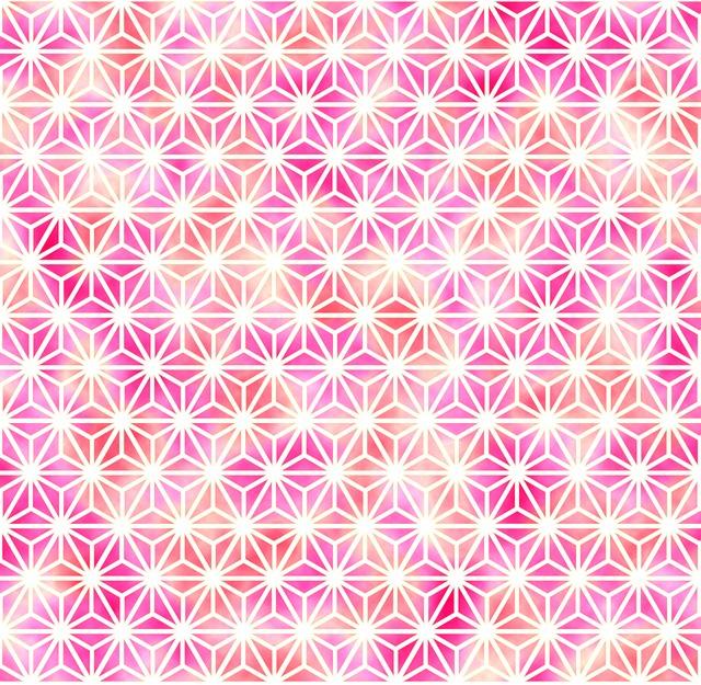 Traditional Patterns, Hemp Pattern, White, Magenta, Red