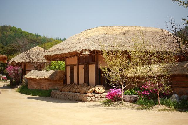 Republic Of Korea, Traditional, Thatch Roofed Hose