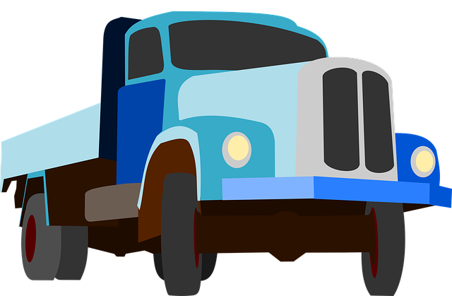 Truck, Traffic, Cargo, Goods, Blue, Auto, Machine, Road