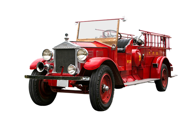 Vehicle, Traffic, Fire, Fire Truck, Isolated, Oldtimer