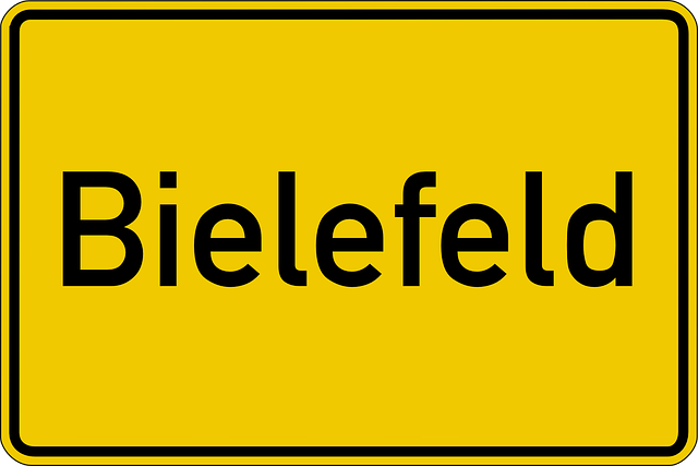 Bielefeld, Town Sign, Shield, Traffic, Road Sign