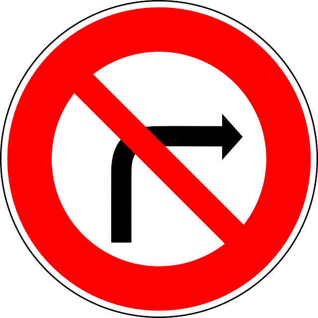 No Right-turn, Traffic Sign, Sign, Regulatory Sign
