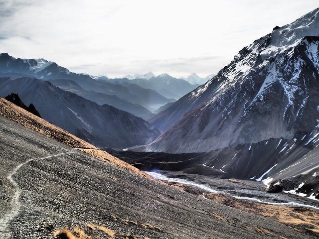 Trail, Annapurna Circuit, Hiking, Trekking, Dramatic