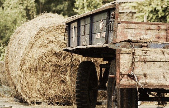 Agriculture, Trailers, Commercial Vehicle, Hay Bales