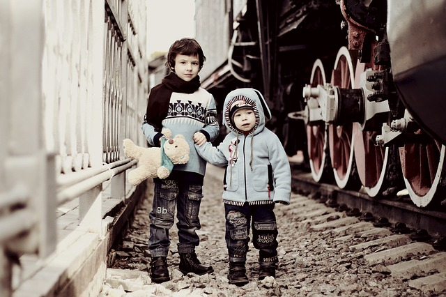 Kids, Boys, Railway, Train, People, Baby, Grown Up