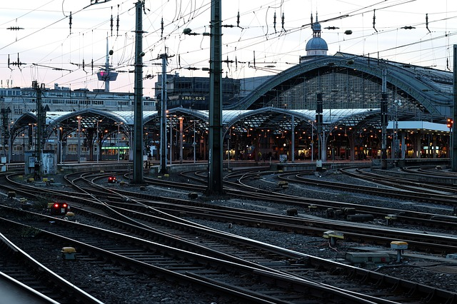 Railway Station, Cologne, Gleise, Train, Railway