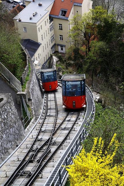 Schlossberg, Graz, Train, Styria, Austria, City, Watch