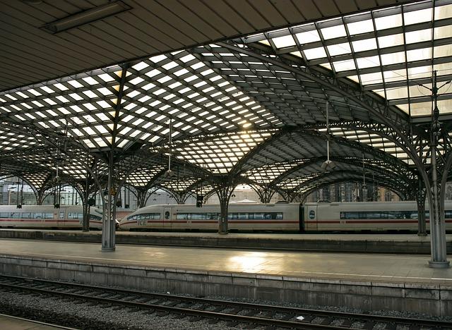 Railway Station, Ice, Train, Platform, Intercity