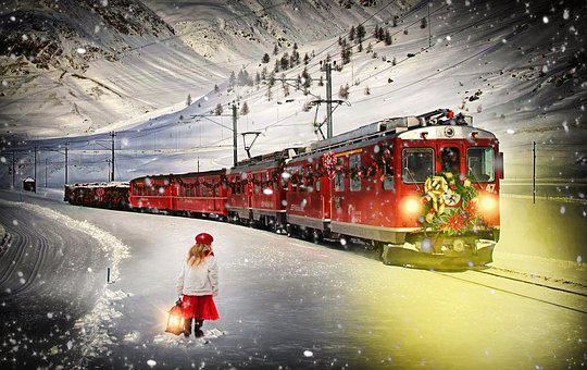 Polar Express, Train, Christmas Train, Little Girl