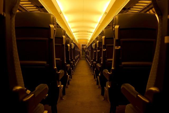 Railway Compartment, Intercity, Train, Railway