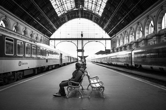 Train Station, Adult, City, Indoors, Man, Person