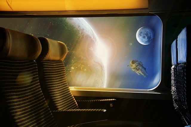 Space, Train, The Sun, Earth, Transport, Return, Travel
