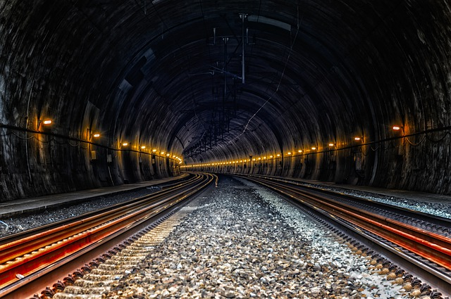 Tunnel, Train, Ice, Rail Traffic, Underground