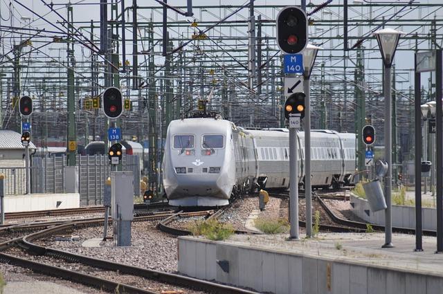 Train, X2, Intercity, Railway, Malmo, Sweden, Signal