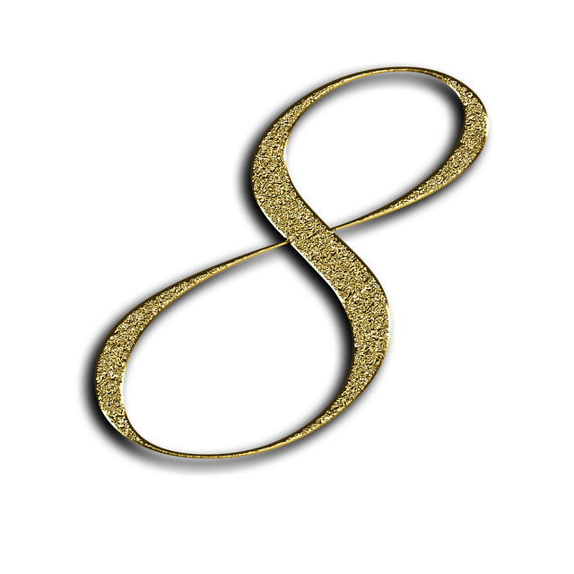 Number, 8, Gold, Font, Training, Eight, Learn, Golden