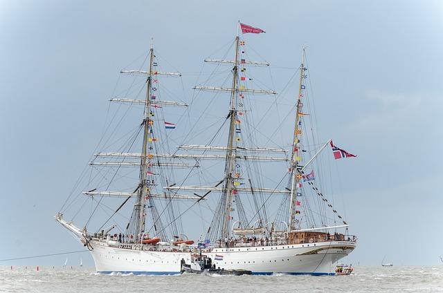 Training Ship, Ship, Harlingen, Friesland, Wadden Sea