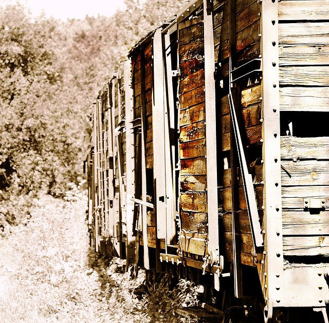 Trains, Train Cemetery, Zughalde, Old, Rots, Wood