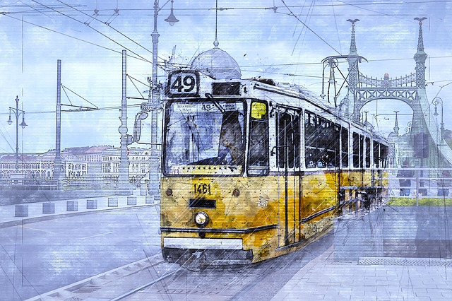 Tram, Transport, Transportation, Budapest, Hungary