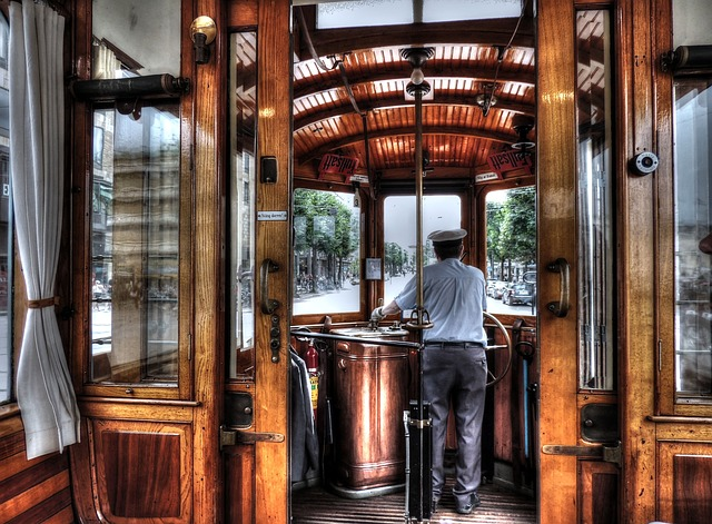 Old Tram, Tram133, Gothenburg, Sweden, Tram, Inside