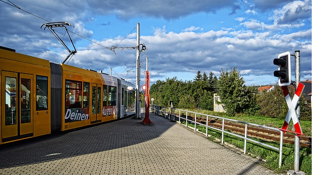 Tram, Travel, Road, Sky, Transport System, Vehicle