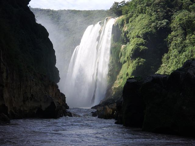Waterfall, Tamil, Huasteca, Slp, Nature, Power, Tramp