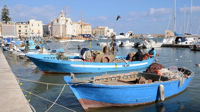 Italy, Pouilles, Adriatic, Port, Trani