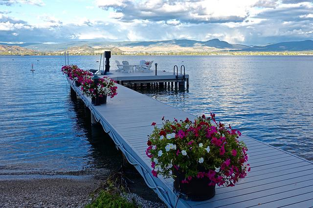 Jetty, Lake, Pier, Tranquil, Water, Lake Okanagan