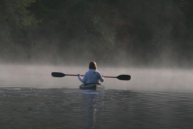 Outdoor, Healing, Tranquil, Lake, Kayak, Peace, Summer