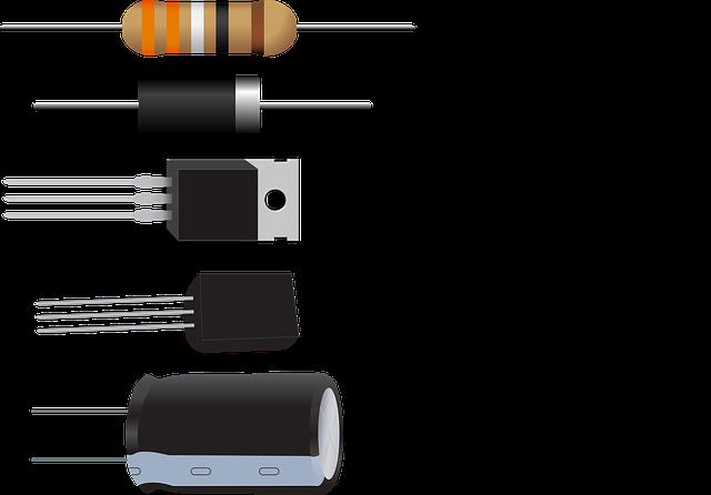 Diode, Resistor, Capacitor, Transistor, Electronic