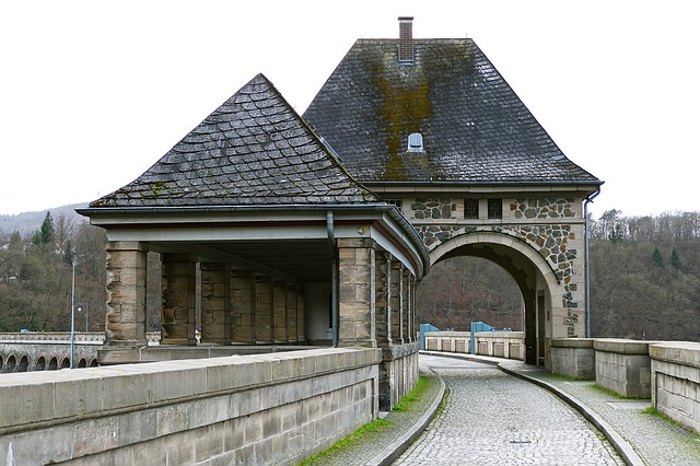 Eder Dam, Dam, Gate Building, Transition, Natural Stone
