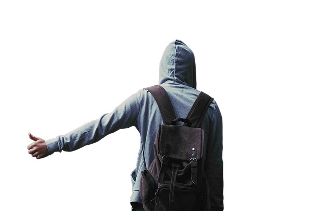 Isolated, Transparent, White, Background, Man, Hood