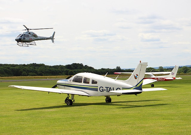 Airfield, Helicopter, Aeroplane, Transport, Airport