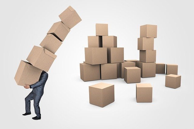 Businessman, Boxes, Transport, Delivery, Logistics, Box