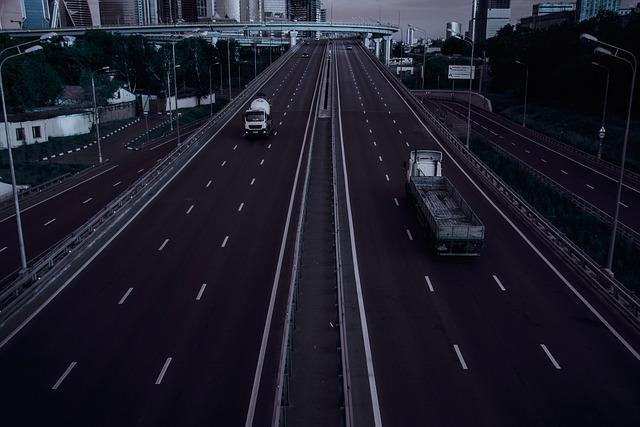 Empty City, Road, Machinery, Car, Photo, Transport