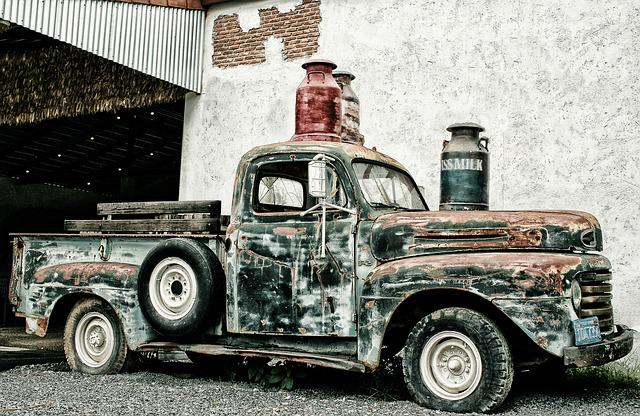 Pickup, Scrap Truck, North America, Oldtimer, Transport