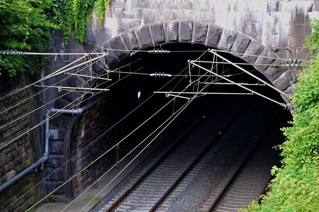 Tunnel, Train, Gleise, Railway Line, Transport, Railway