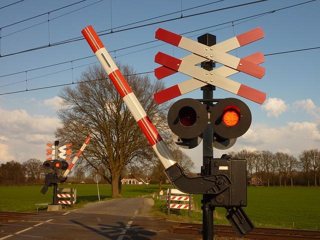 Train, Railway Crossing, Railway Line, Road, Transport