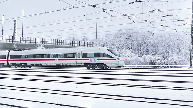 Transport System, Winter, Travel, Ice, Railway Station
