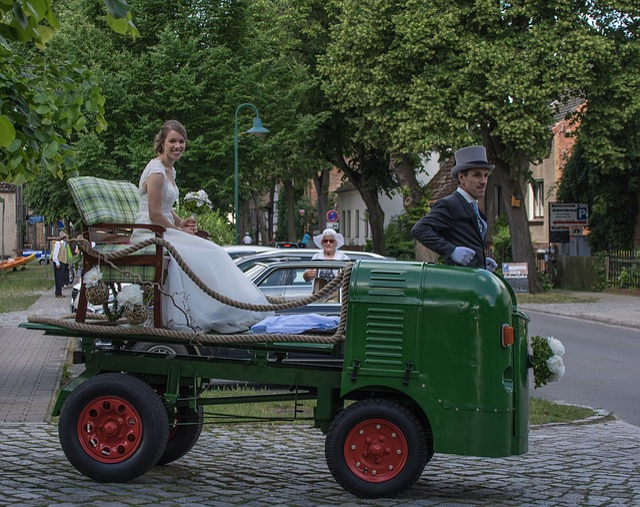 Wedding, Bride, Vehicle, Transport System, Human