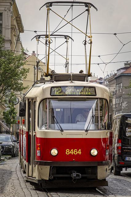 Tram, Transport, Traffic, Train, Rails, Prague, Praha