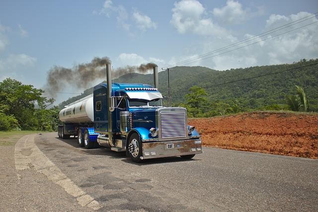 Peterbilt, Truck, Tractor, Tanker, Transport, Blue