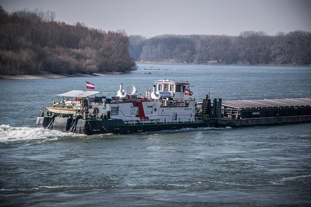 River, Ship, Water, Transport, The Danube, Cargo