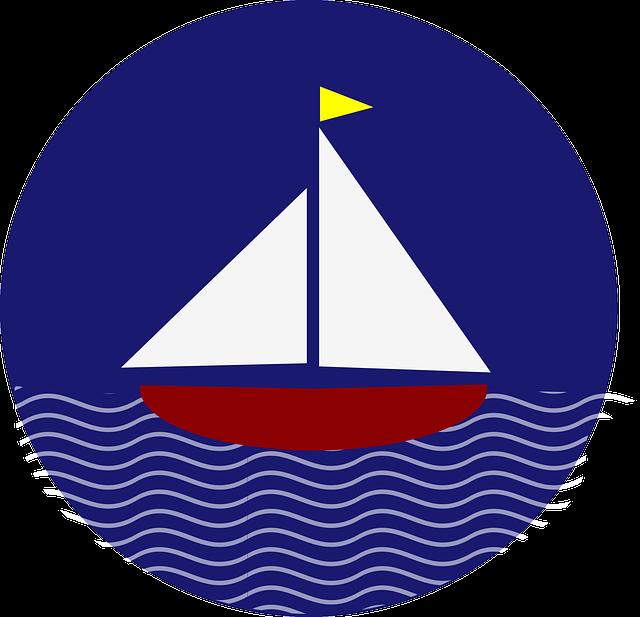 Boat, Sailing, Flag, Circle, Transportation, Sailboat