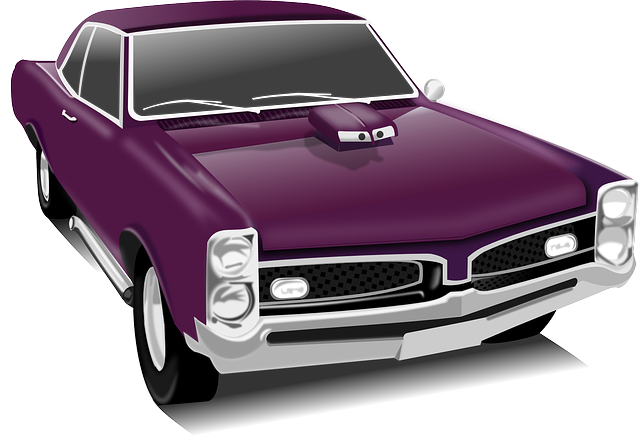 Classic Car, Car, Vintage, Purple, Transportation
